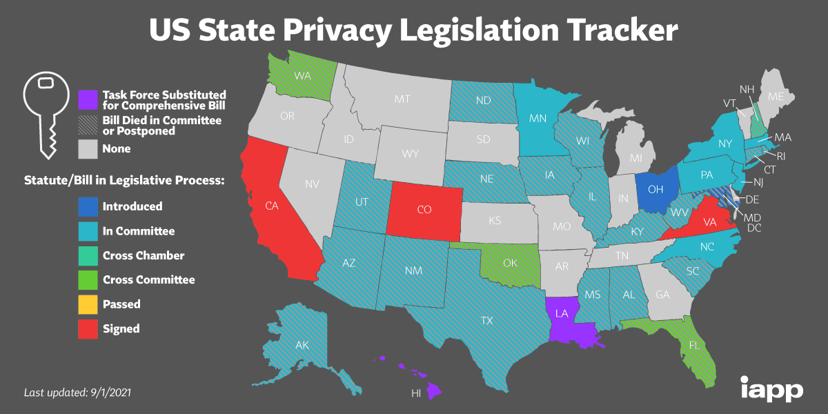 state privacy laws 2021